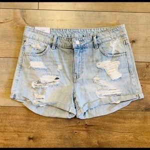 H&M Distressed Light Wash Shorts - NWT